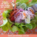 Salada de Bifum com Molho de Hortelã e Gergelim Negro